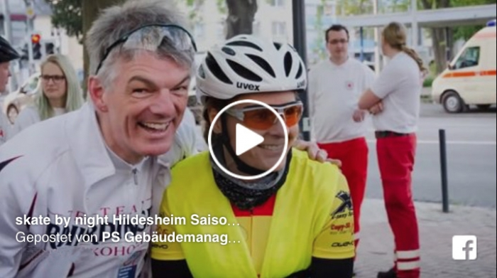 Video von PS Gebäudemanagement für den Saisonstart Skate by Night Hildesheim